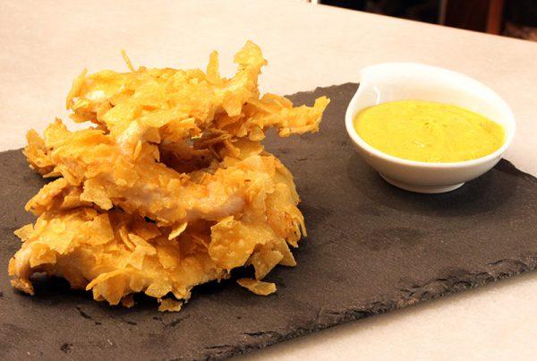 RabasRabas de pollo con salsa al toque de curry.2